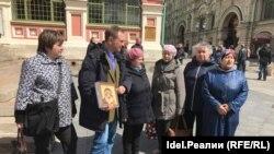 Активисты в Москве, 12 мая 2017 года