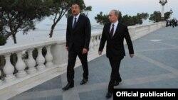 Встреча президентов России и Азербайджана в Баку, август 2013 г.