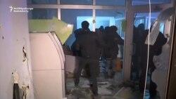 Etirazçılar rus bankını belə dağıtdılar