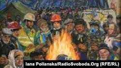"""Фрагмент картины """"Тревожная ночь"""" украинской художницы и бывшей активистки """"Евромайдана"""" Марины Соченко"""