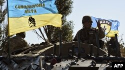 Українські військовослужбовці у Маріуполі, вересень 2014 року