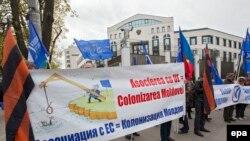 La manifestația pro-rusă de la Chișinău de la 6 aprilie.