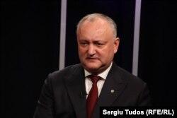 Președintele Igor Dodon în studioul Europei Libere