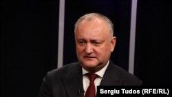 Igor Dodon, în studioul Europei Libere din Republica Moldova