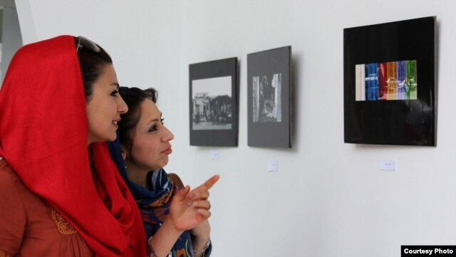 The exhibition runs through the end of July at the French Cultural Center in Kabul.