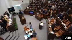 Сессия Совета Федерации России. Иллюстративное фото.