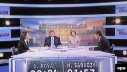 В теледебатах накануне второго тура президентских выборов Саркози, по мнению многих, выглядел предпочтительнее