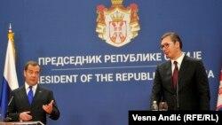 Premijer Ruske federacije Dmitrij Medvedev i predsednik Srbije Aleksandar Vučić