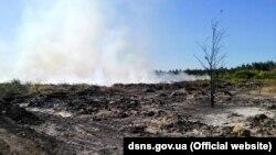 Пожежа на сміттєзвалищі поблизу Балаклії на Харківщині. Фото Державної служби з надзвичайних ситуацій