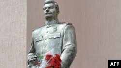 The Stalin monument before the attack