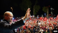 Pozdrav pristalicama: Predsednik Turske Redžep Tajip Erdogan