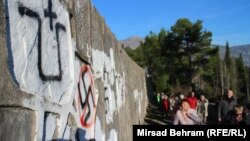 Partizansko spomen groblje oskrnavljeno je fašističkim grafitima