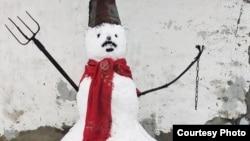 Снеговик, из-за которого был составлен протокол