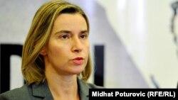 Глава внешнеполитического ведомства Европейского союза Федерика Могерини.