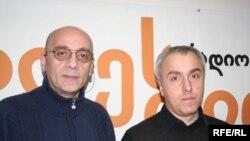 დავით ოთიაშვილი (მარჯვნივ) და ზურაბ დანელია