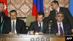 Moskva. 2 noyabr 2008. Birgə bəyannamənin imzalanması mərasimi