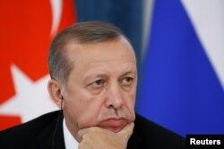 Президент Туреччини Реджеп Тайїп Ердоган. Санкт-Петербург, 9 серпня 2016 року