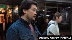 Продюсер фильма «Шлагбаум» Аскар Узабаев. Алматы, 6 октября 2015 года.