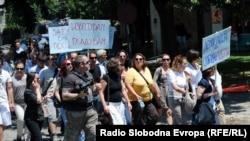 Од денешните протести на новинарите
