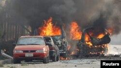 Один из терактов, устроенных талибами в Джелалабаде. 24 января 2018 года