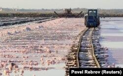 Акрамя Крыму, ружовую соль таксама здабываюць у пакістанскіх Гімалаях, але там яна каменная