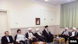 دیدار رهبر جمهوری اسلامی با روحانیون و علمای قم در مهرماه