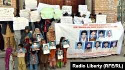 Family members of missing Balochs (mostly political workers) rally in protest in Quetta, Pakistan, last year.