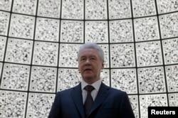 Сергей Собянин на церемонии открытия информационного центра, посвященного проекту парка Зарядье, апрель 2014 года