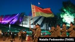 Репетиція військового параду в Мінську, квітень 2020 року