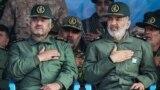 New commander of Revolutionary Guards, Hossein Sallami (right) and the former chief, Mohammad Ali Aziz Jafari, undated.