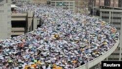 Паломники со всего мира совершают Хадж. Мекка, 6 октября 2014 года.
