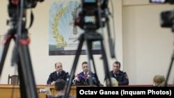ROMANIA IGSU ISU press conference Colectiv