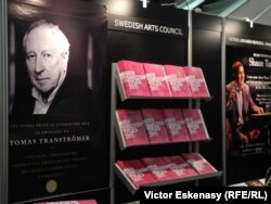 Frankfurt kitab sərgisi - 2011, İsveçin stendi, Nobel mükafatçısı Tranströmerin posteri