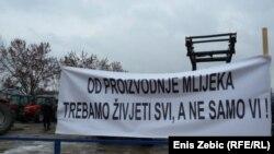 Protesti mljekara u Hrvatskoj