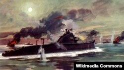 Подвиг экипажа подводной лодки Щ-408. Художник И. Родионов