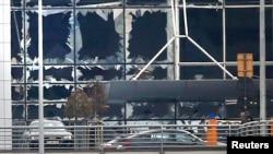 Вибиті вибухом вікна аеропорту Брюсселя, 22 березня 2016 року