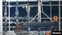 Завентем әуежайының террорлық жарылыстардан кейінгі көрінісі. Брюссель, 22 наурыз 2016 жыл.