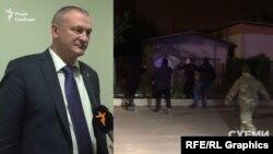 Голова Національної поліції Сергій Князєв та скріншот із відео нападу на знімальну групу програми «Схеми»