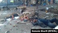 عکس از انفجار امروز در ولایت بامیان