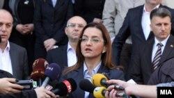 Министерката за внатрешни работи, Гордана Јанкулоска.