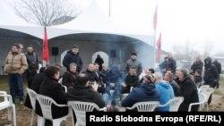Камп на ДУИ во Скопје, Бутел, на местото каде што требаше да биде поставен 55 метарскиот крст.