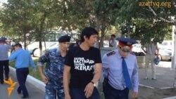 Задержание протестующих в Астане