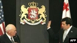 دیک چینی در تفلیس از سیاست های روسیه انتقاد کرد.(عکس: AFP)