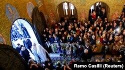Собор Святої Софії у Римі. Італія, зібрання української греко-католицької громади. 28 січня 2018 року