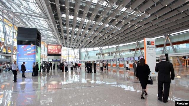 Armenia - Zvartnots international airport near Yerevan.