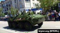 Тяжелое вооружение на параде в Севастополе 9 мая 2015 года
