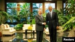 Կուբայի և ԱՄՆ-ի նախագահներ Ռաուլ Կաստրոն և Բարաք Օբաման, Հավանա, 21 մարտի, 2016թ.