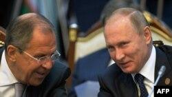 Путин и Лавров в Бишкеке