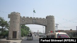 This gate marks the entrance to the Khyber Pass.
