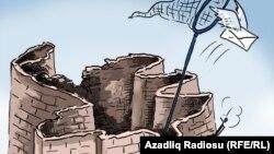 """""""Həbsxanadan məktub"""". Karikatura. Gündüz Ağayev. 23noy2016"""